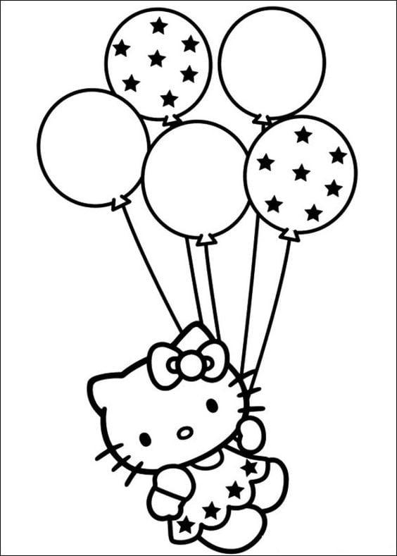 Hình ảnh mèo Hello Kitty cho bé