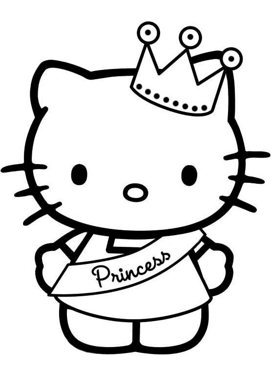 Hình ảnh mèo Hello Kitty công chúa