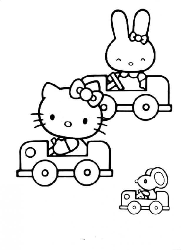 Hình ảnh mèo Hello Kitty và những người bạn
