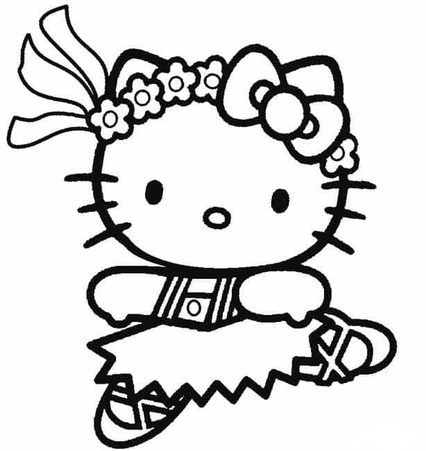 Hình ảnh mèo Hello Kitty vẽ