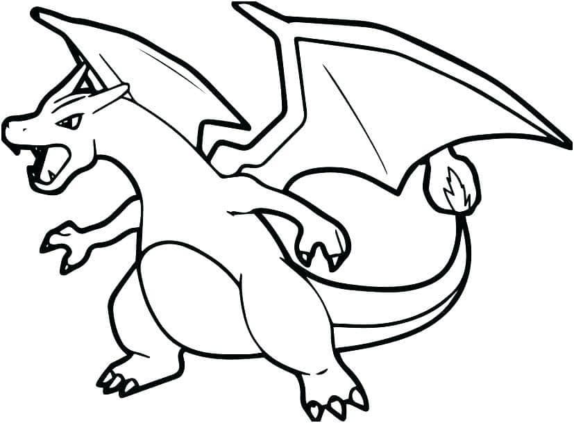 Hình ảnh tô màu Pokemon hệ lửa