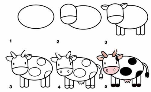 Hình con bò đơn giản