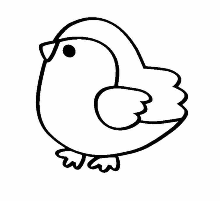 Hình con gà đơn giản