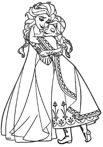 Hình công chúa Elsa đẹp cho bé tô màu