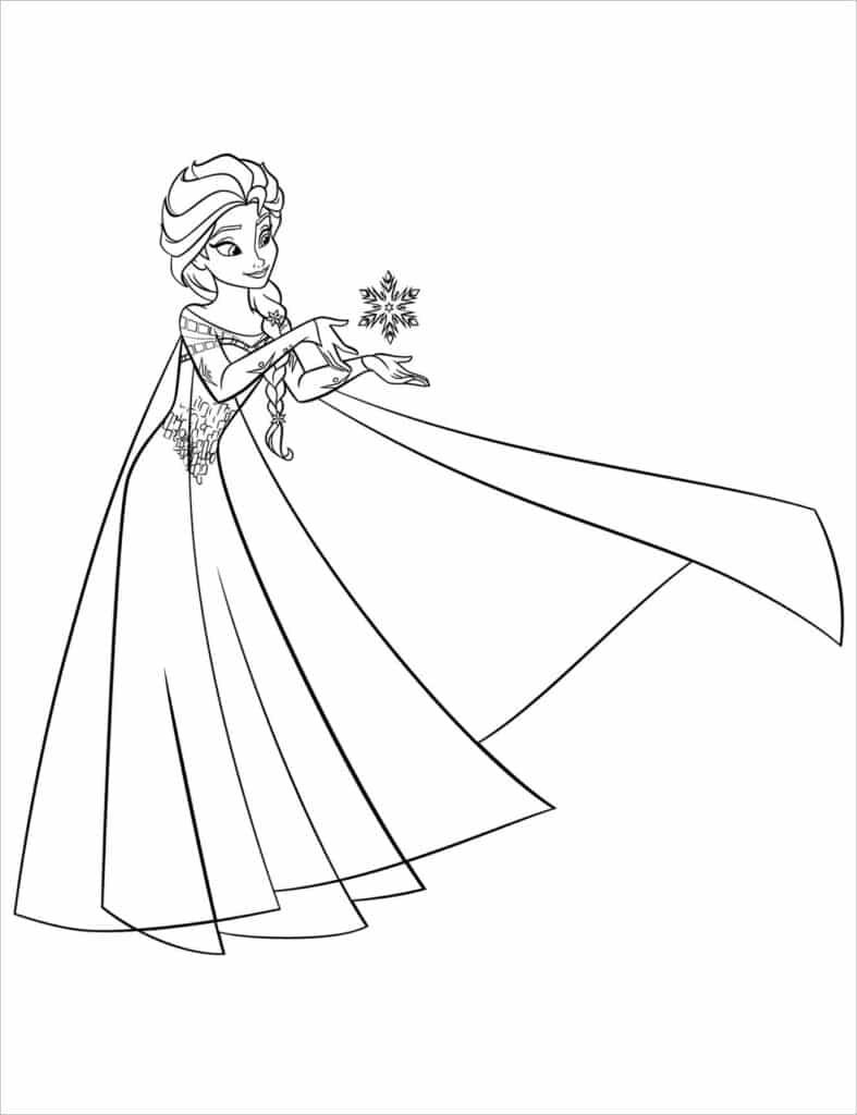Hình công chúa Elsa xinh đẹp