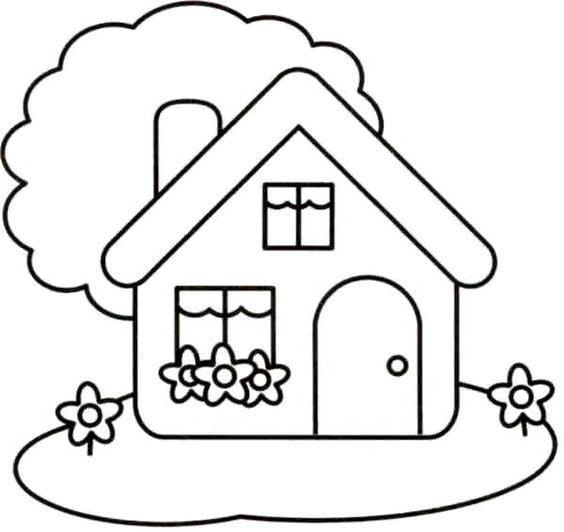 Hình đơn giản nhất về ngôi nhà