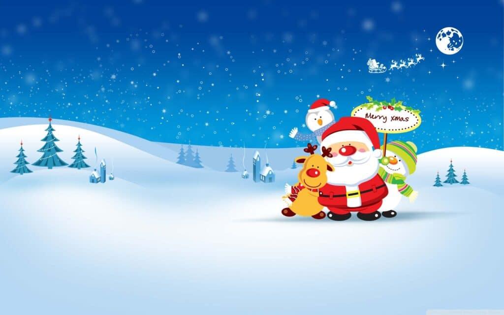 Hình thiệp Noel cute