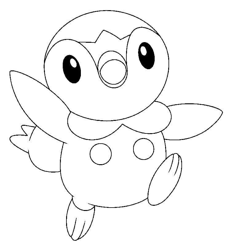 Hình tô màu Pokemon cho bé