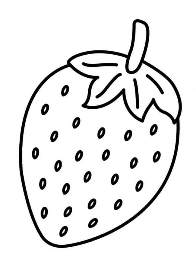 Hình tô màu quả dâu