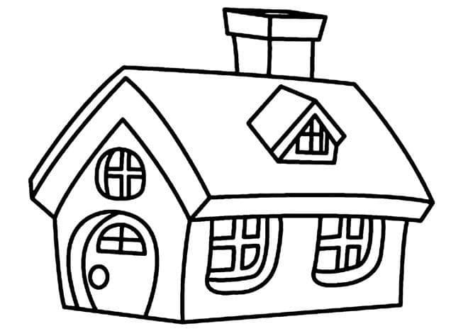 Mẫu tranh ngôi nhà cho bé