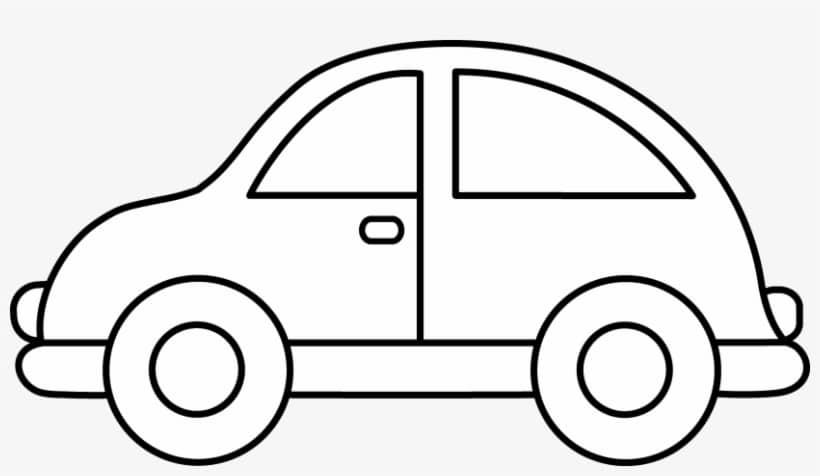 Ô tô con tô màu đơn giản cho bé