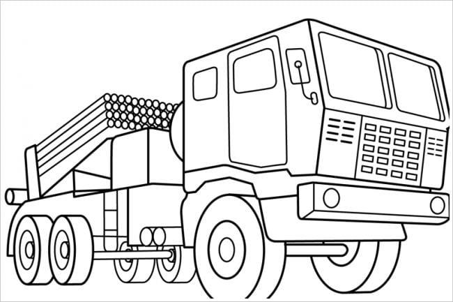 Ô tô tải cho bé tập tô