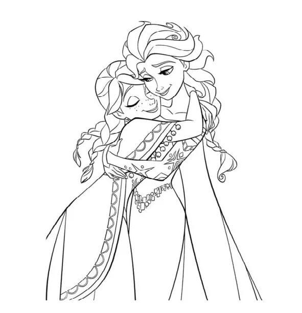 Tải hình tô màu công chúa Elsaa