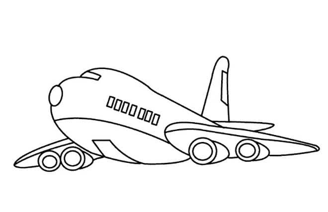 Tải tranh máy bay cho bé tập tô màu