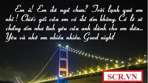 Tin nhắn chúc ngủ ngon cho người yêu