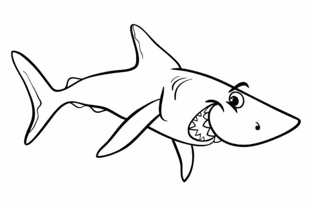 Tranh con cá mập cho bé tập tô