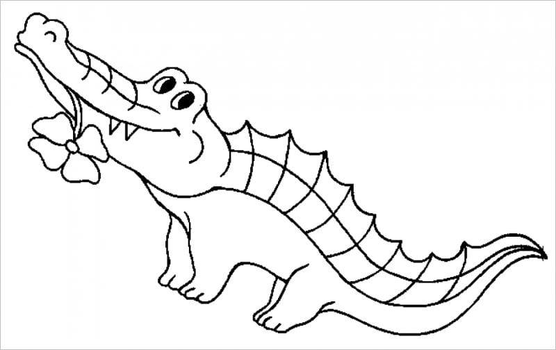 Tranh con cá sấu cho bé tập tô đẹp