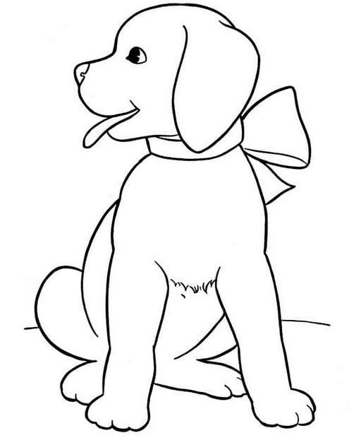Tranh con chó tô màu