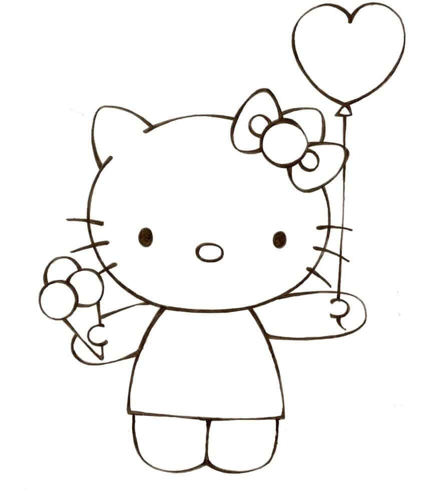 Tranh mèo Hello Kitty