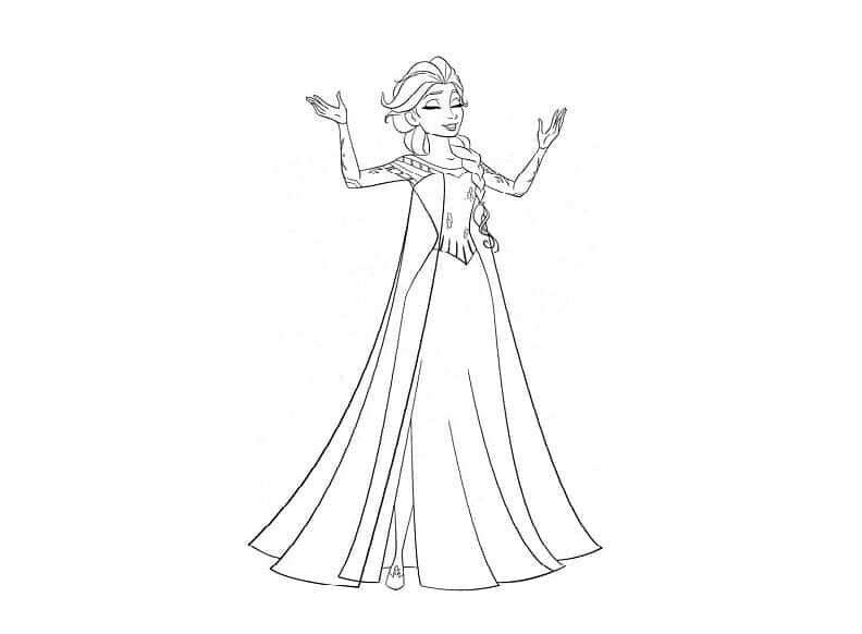 Tranh tô màu công chúa tuyết Elsa
