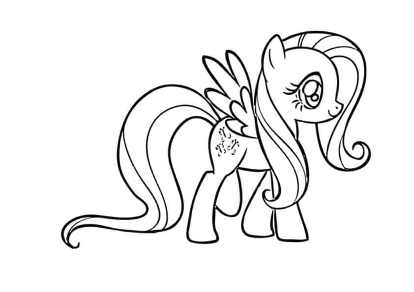 Bộ hình ảnh về chú ngựa Pony cho bé tập tô