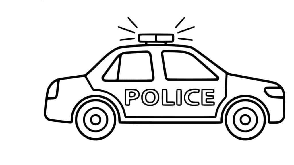 Tổng hợp các bức tranh tô màu xe cảnh sát đẹp nhất