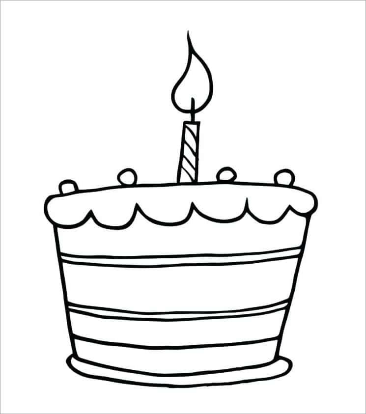 hình tô màu bánh sinh nhật