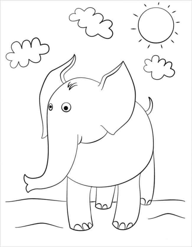 hình tô màu con voi đẹp nhất
