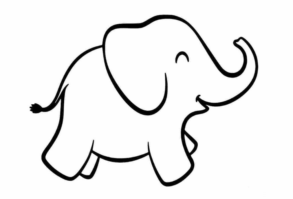 hình tô màu con voi xinh