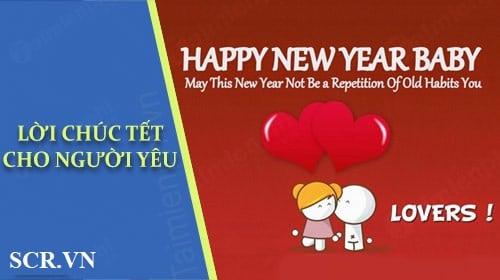 tin nhắn chúc năm mới cho người yêu