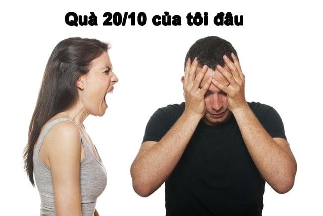 Ảnh Chế 20 Tháng 10 Vợ Đòi Quà
