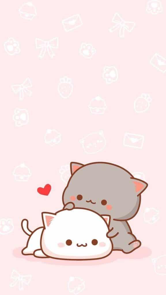 Ảnh anime mèo dễ thương