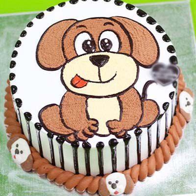 Ảnh bánh sinh nhật hình chú chó đẹp