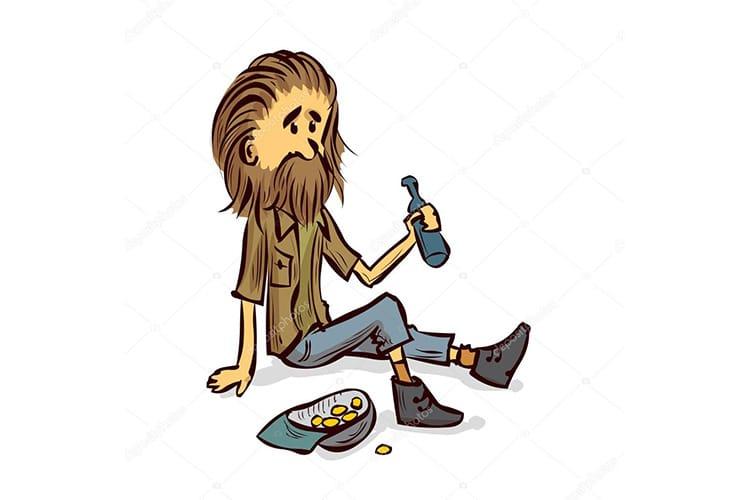 Ảnh chế người đàn ông ngồi với chai rượu và mồi nhậu