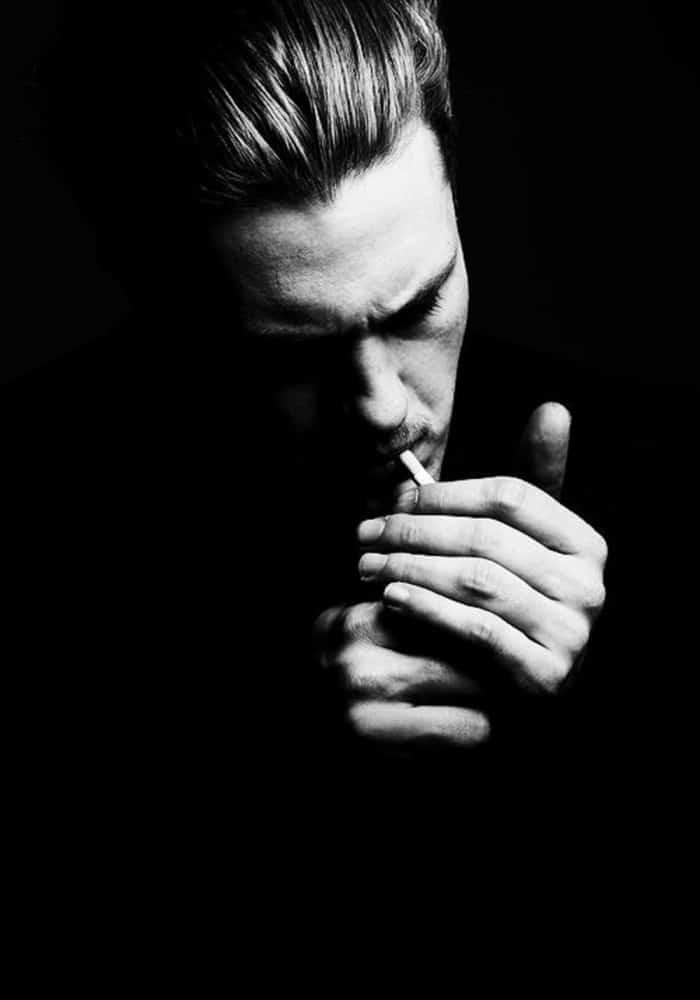 Ảnh đen trắng hút thuốc đẹp