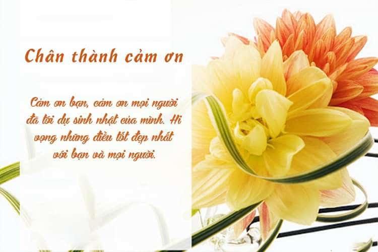 Ảnh hoa kèm lời cảm ơn đến mọi người