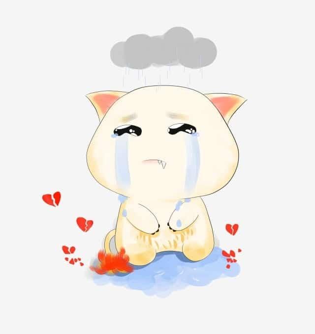 Ảnh hoạt hình buồn khóc
