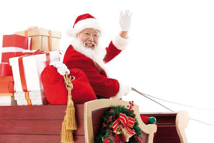 Ảnh ông già Noel chuẩn bị đi phát quà cho các bế