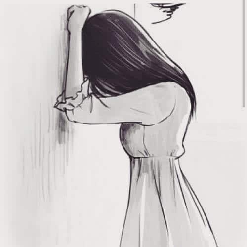 Ảnh vẽ người khóc