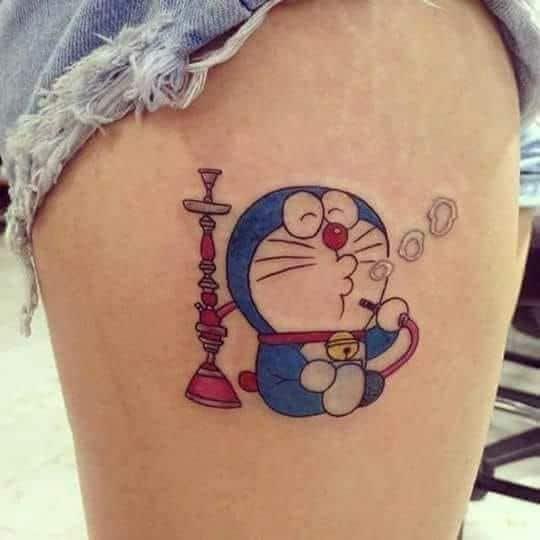 Ảnh xăm Doraemon ngầu