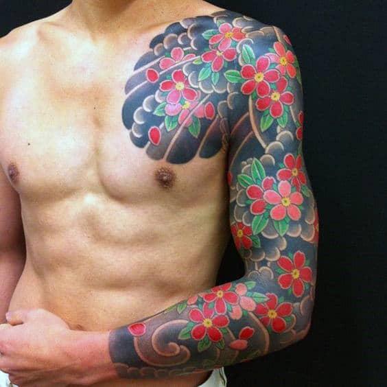 Ảnh xăm tattoo Yakuza full tay đẹp