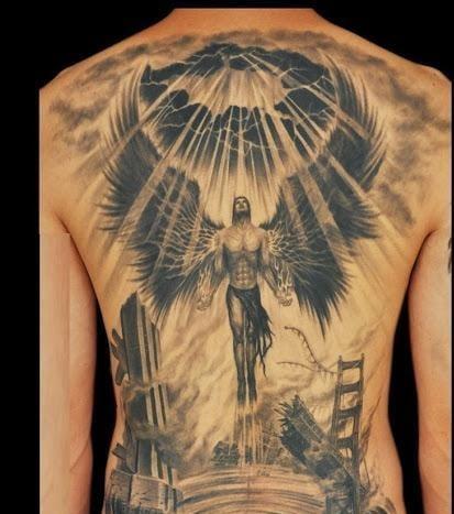 Ảnh xăm thiên thần cho nam đẹp nhất