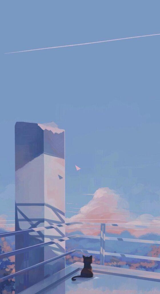 Background điện thoại cô đơn