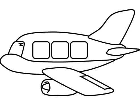 Bé tập tô màu hình ảnh máy bay cute nhất