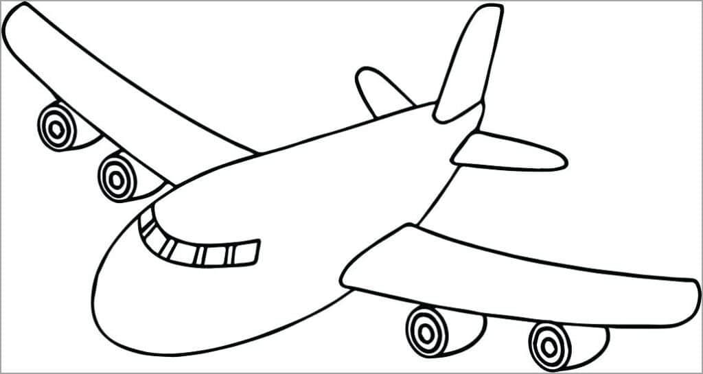 Bé tập tô màu hình ảnh máy bay đẹp nhất