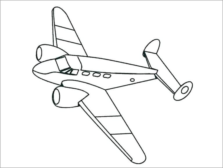 Tổng hợp hình tô màu máy bay đẹp nhất