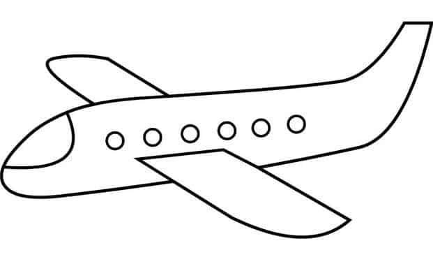 Bé tập tô màu hình ảnh máy bay đơn giản