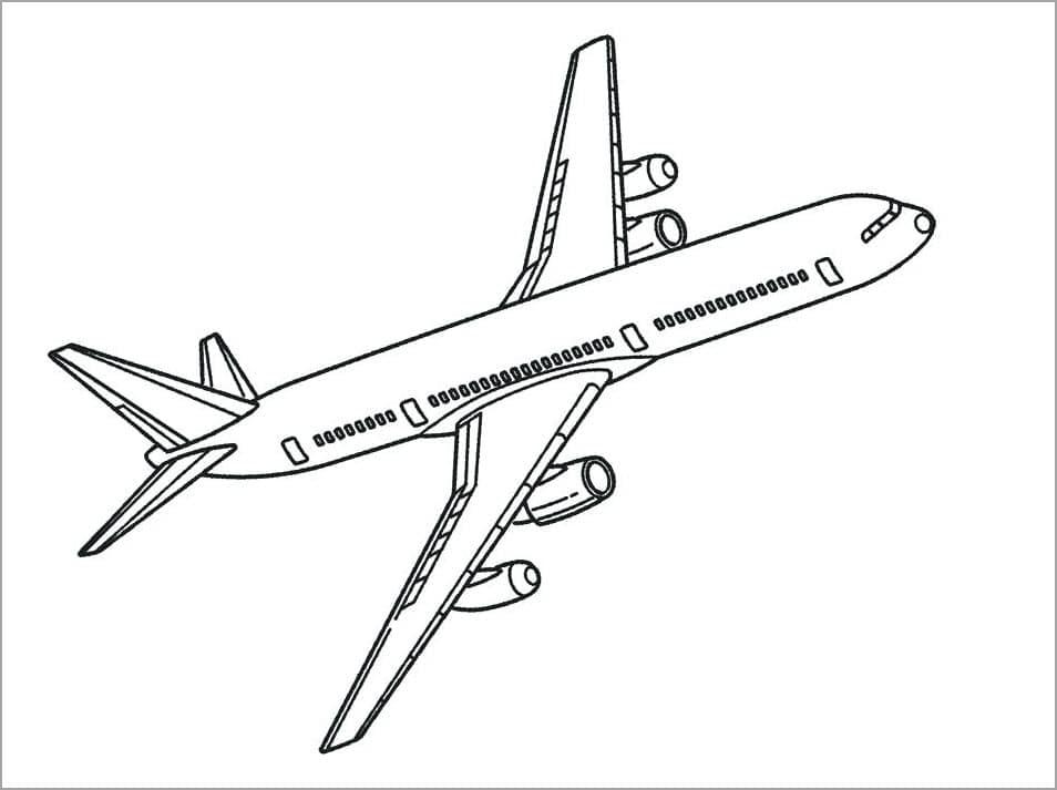 Bé tập tô màu hình ảnh máy bay mới nhất
