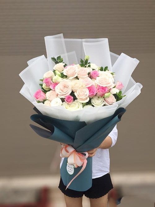 Bó hoa hồng ấn tượng cho ngày sinh nhật ý nghĩa