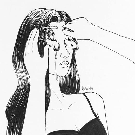 Bức ảnh chạnh lòng về cô gái khóc